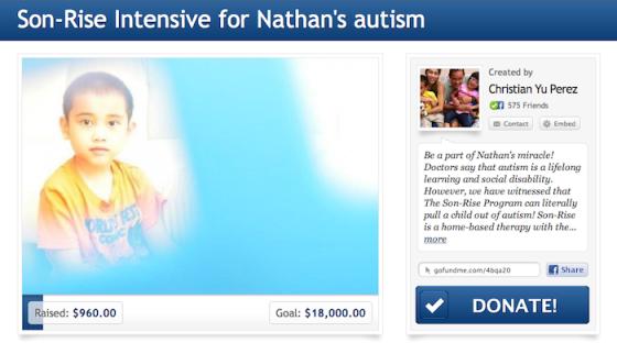 Nathan's GoFundMe Page