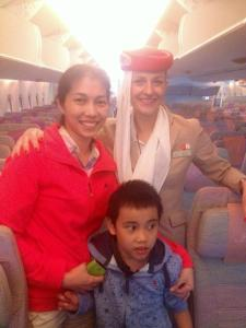 Thank you Emirates for being so accommodating to us and our son with Autism during our long flight.